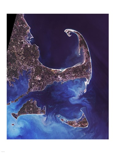 Cape Cod - from space Poster by Unknown for $67.50 CAD