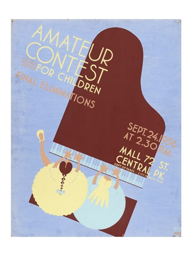 Amateur Contest for Children Final Eliminations Poster by Unknown for $67.50 CAD
