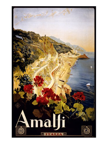 Amalfi, travel poster Poster by Unknown for $67.50 CAD