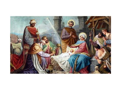 Adoration of the Shepherds and the Magi Poster by Unknown for $28.75 CAD