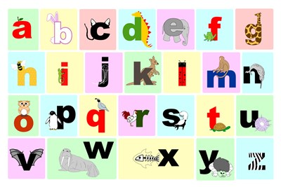 Animal Alphabet Poster by Veruca Salt for $102.50 CAD