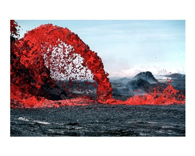 Arching fountain of a Pahoehoe Poster by Unknown for $56.25 CAD