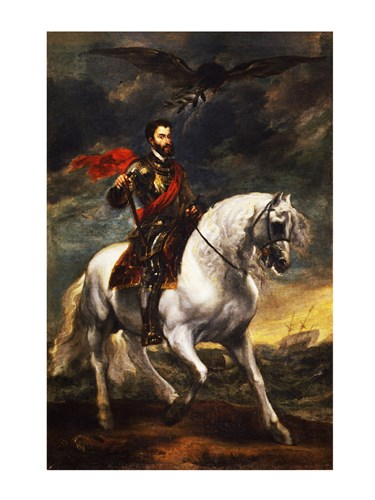 Portrait of Charles V, Holy Roman Emperor, on Horseback Poster by Unknown for $41.25 CAD