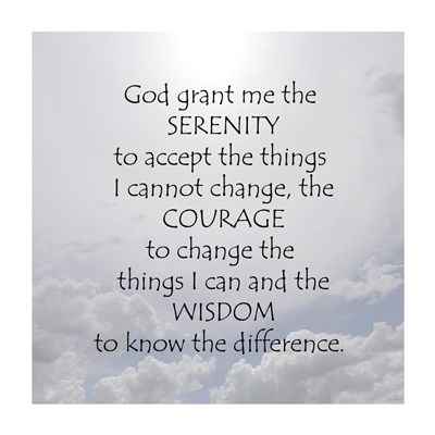 Serenity Prayer - clouds Poster by Unknown for $41.25 CAD