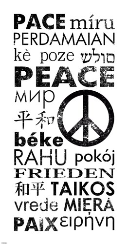 Peace in Different Languages Poster by Veruca Salt for $65.00 CAD