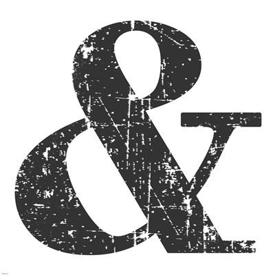 Black Ampersand Poster by Veruca Salt for $63.75 CAD