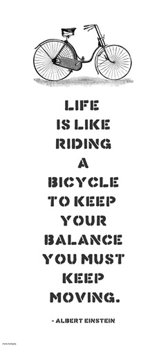 A. Einstein Bicycle Quote Poster by Veruca Salt for $53.75 CAD