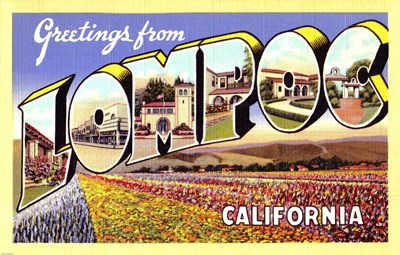 Greetings from Lompoc California Poster by Unknown for $36.25 CAD