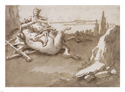 A Centaur and a Female Faun in a Landscape Poster by Giovanni Domenico Tiepolo for $67.50 CAD