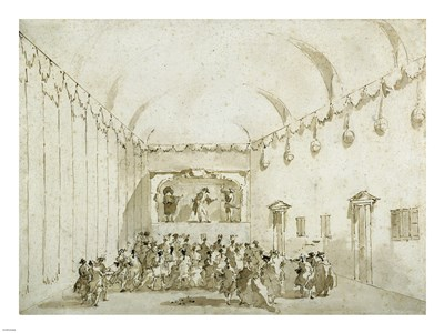A Theatrical Performance Poster by Francesco Guardi for $67.50 CAD