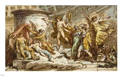 Allegory on the Life of Canova Poster by Felice Giani for $60.00 CAD