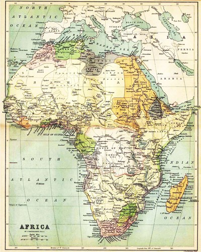 Map of Africa 1885 Poster by Unknown for $25.00 CAD