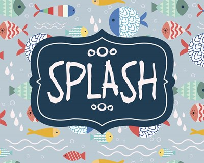 Splish and Splash Fish Pattern Blue Part II Poster by Color Me Happy for $25.00 CAD