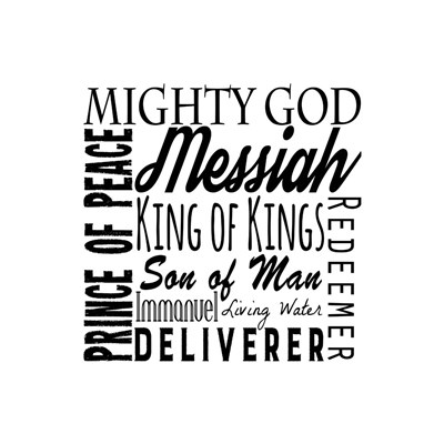 Names of Jesus Square Black Text Poster by Inspire Me for $48.75 CAD