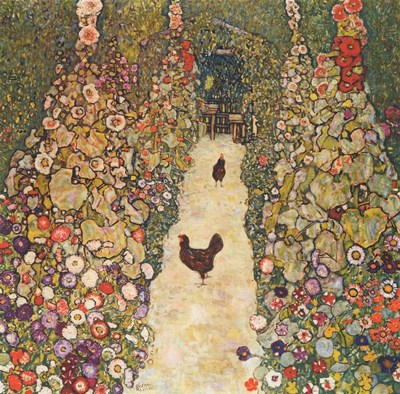Garden Path with Chickens, 1916 Poster by Gustav Klimt for $37.50 CAD