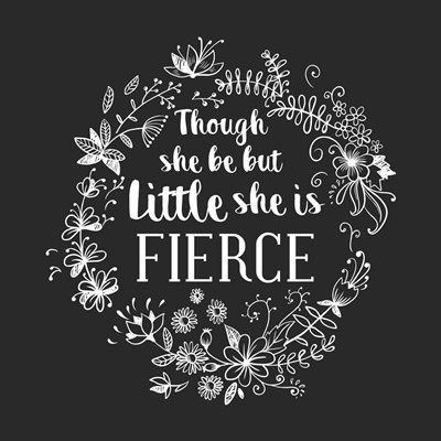 Though She Be But Little - Wreath Doodle Gray Poster by Color Me Happy for $41.25 CAD