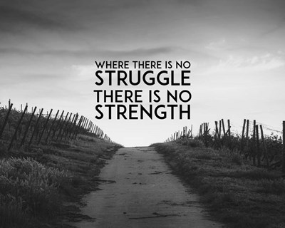 Where There Is No Struggle There Is No Strength - Grayscale Poster by Color Me Happy for $56.25 CAD
