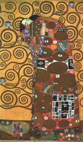 Fulfillment, one of the Kiss Panels Poster by Gustav Klimt for $31.25 CAD