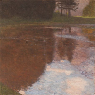Tranquil Pond Poster by Gustav Klimt for $27.50 CAD