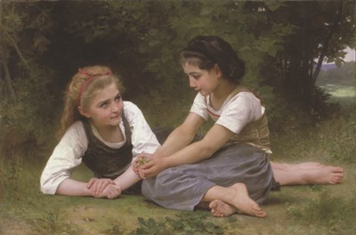 The Nut Gatherers, 1882 Poster by William Adolphe Bouguereau for $23.75 CAD