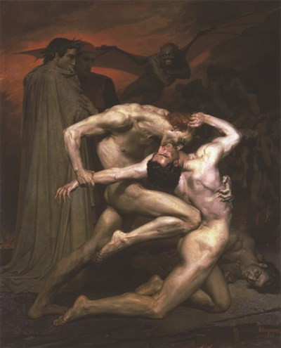 Dante and Virgil in Hell, 1850 Poster by William Adolphe Bouguereau for $31.25 CAD