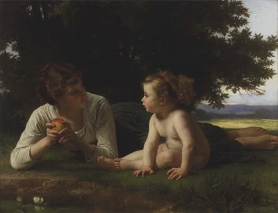 Temptation, 1880 Poster by William Adolphe Bouguereau for $32.50 CAD