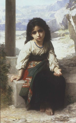 Petite Mendiante, 1880 Poster by William Adolphe Bouguereau for $32.50 CAD