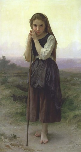 A Little Shepherdess, 1891 Poster by William Adolphe Bouguereau for $30.00 CAD