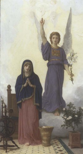 Annunciation Poster by William Adolphe Bouguereau for $30.00 CAD