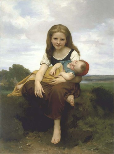 The Elder Sister (La Soeur Ainee) Poster by William Adolphe Bouguereau for $32.50 CAD