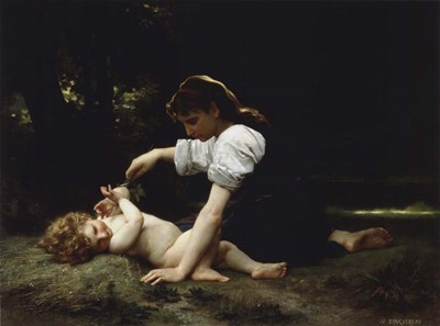 Young Woman and Child, 1881 Poster by William Adolphe Bouguereau for $32.50 CAD
