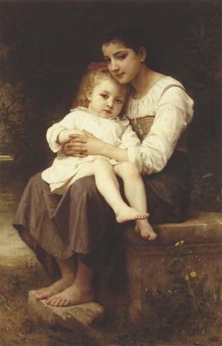 The Eldest Sister, 1886 Poster by William Adolphe Bouguereau for $33.75 CAD