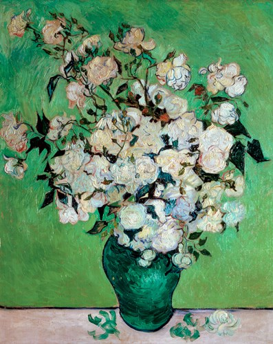 A Vase of Roses, 1890 Poster by Vincent Van Gogh for $106.25 CAD
