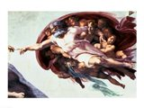 Sistine Chapel Ceiling: Creation of Adam, 1510 (detail)