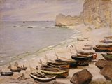 Boats on the Beach at Etretat, 1883