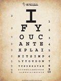 Einstein Eye Chart II