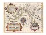 Strait of Magellan by Jodocus Hondius