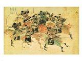 Samurais on horseback