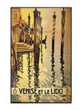 Venise et le Lido travel poster 1920