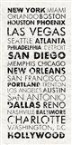 USA Cities White