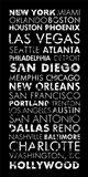 USA Cities Black