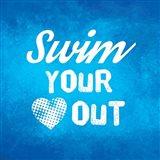 Swim Your Heart Out - Blue Vintage
