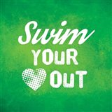 Swim Your Heart Out - Green Vintage