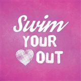 Swim Your Heart Out - Pink Vintage