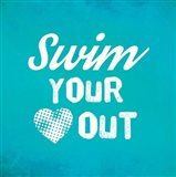Swim Your Heart Out - Teal Vintage