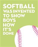 Softball Quote - White on Lime
