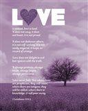 Corinthians 13:4-8 Love is Patient - Lavender Field