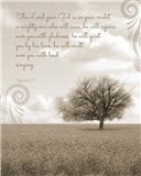 Zephaniah 3:17 The Lord Your God (Grey Landscape)