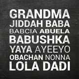 Grandma Various languages - Chalkboard