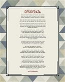 Desiderata Triangle Pattern Frame Blue